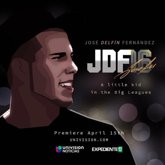Cartel de presentación del documental sobre José Fernández.