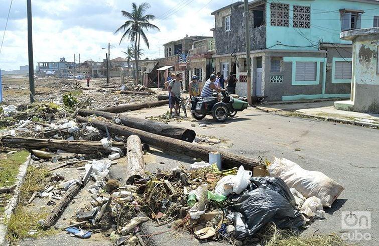 Cojímar, después del huracán Irma. Foto. Otmaro Rodríguez.