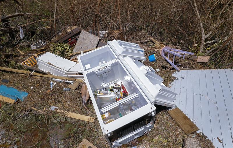 Irma en Florida. Foto: EFE.