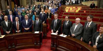 Parlament catalán hoy. Foto: Alberto Estévez / EFE.