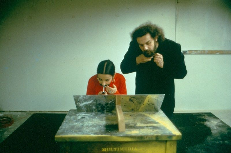 Ana Mendieta y Carl Andre en Sin título (Transplante de vello facial) (detalle), 1972 © The Estate of Ana Mendieta Collection, LLC Courtesy Galerie Lelong & Co.