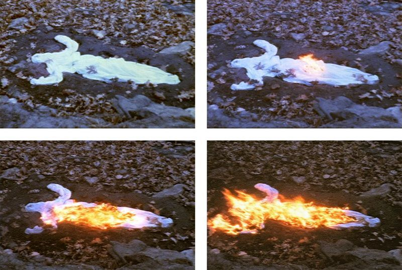 Alma, Silueta en Fuego, 1975 © The Estate of Ana Mendieta Collection, LLC Courtesy Galerie Lelong & Co.