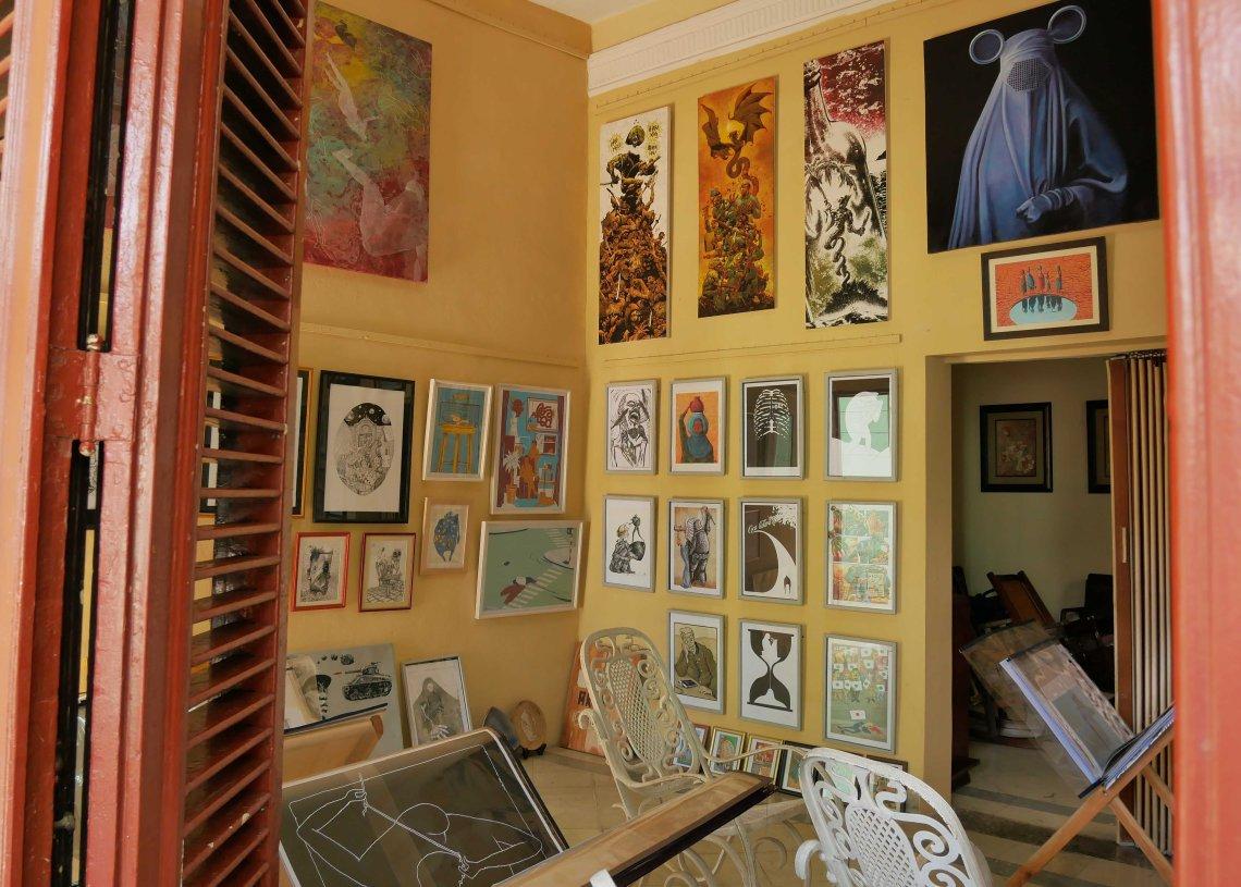 Estudio Galería La Ubre. Línea entre 4 y 6, El Vedado. Foto: Gabriela Mejías.