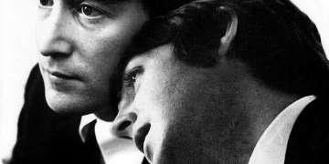 John Lennon (9 de octubre 1940-8 de diciembre 1980) y Paul McCartney (18 de junio 1942-). Foto: Pinterest (detalle).