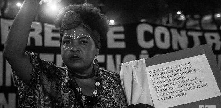 Protestas por el asesinato de la activista y concejal Marielle Franco, en Rio de Janeiro. Foto: Nicolás Cabrera.