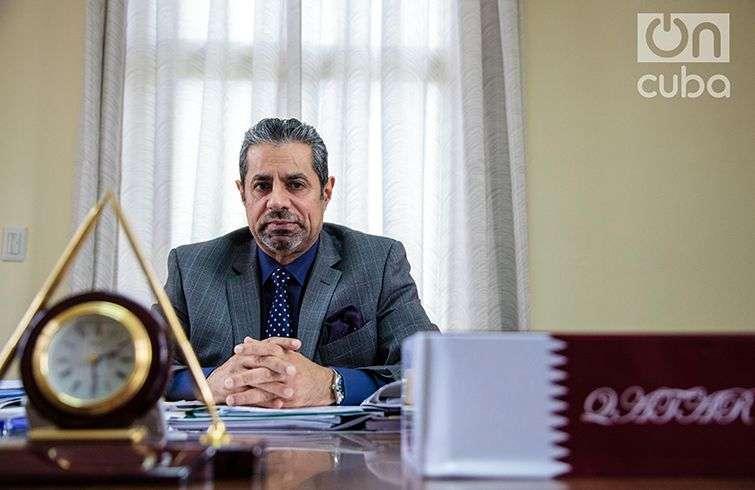 El Sr. Rashid Mairza Al-Mulla, embajador de Qatar en Cuba. Foto: Claudio Pelaez Sordo.