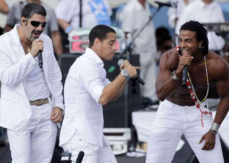 El grupo Orishas durante el concierto Paz sin fronteras, en 2009 en La Habana. Foto: Javier Galeano / AP / Archivo.