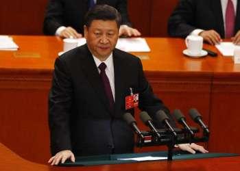 El presidente de China, Xi Jinping, ofrece un discurso en la clausura del Congresio Nacional del Pueblo, en Beijing, China, el 20 de marzo de 2018. Foto: Ng Han Guan / AP.