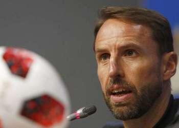 Gareth Southgate, the already famous coach of the British team in Russia 2018. Photo: Alastair Grant / AP