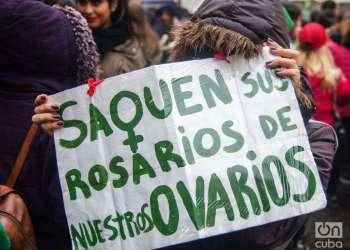 La campaña pro aborto ha ganado fuerza en América Latina. En Argentina estuvo a punto de ser aprobado, pero se impuso el no. Foto: Kaloian.