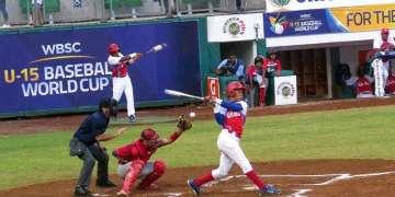 Imagen del juego entre Cuba y Panamá en el Mundial de béisbol sub-15. Foto: @WBSC / Facebook.