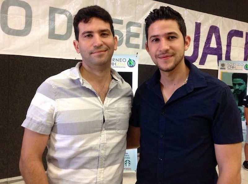 Los hermanos Yunieski (izq) y Yasser Quesada. Foto: pinkydeportes.over-blog.com