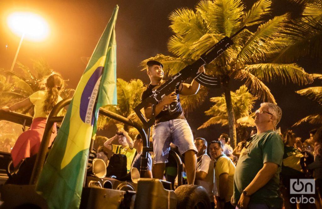 Con el 55,1 por ciento de los votos, el ex militar de ultra derecha Jair Bolsonaro se convirtió en el nuevo presidente de Brasil. Foto: Nicolás Cabrera.
