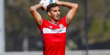 El cubano Jorge Luis Corrales, con el uniforme del Chicago Fire, de la MLS. Foto: Matt May / Chicago Fire.