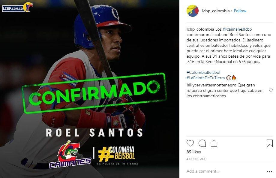 Instagram de la Liga Colombiana de Béisbol Profesional