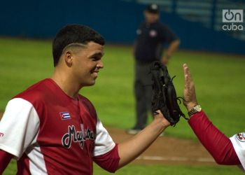 El derecho Aniel Peña tuvo una actuación destacada con los Huracanes de Mayabeque en su temporada de debut. Foto: Otmaro Rodríguez