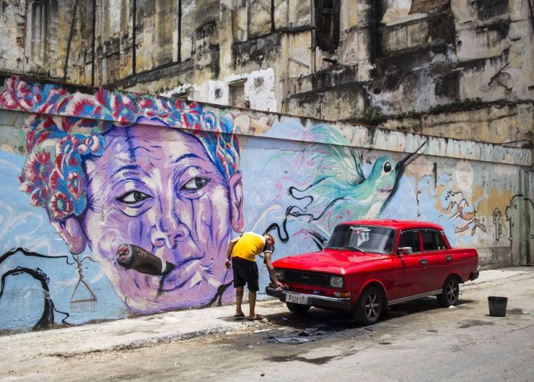Mural en La Habana, Cuba. Foto: Desmond Boylan / AP.