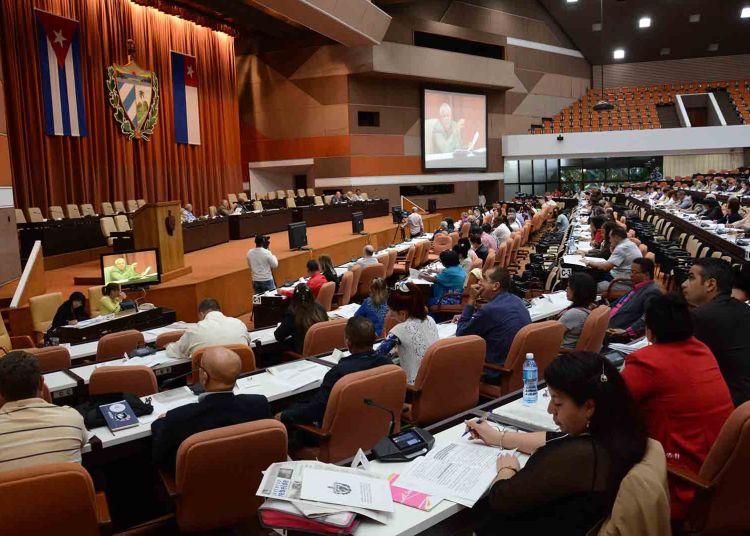 Sesión de la Asamblea Nacional de Cuba, en el Palacio de Convenciones de La Habana, el 20 de diciembre de 2018. Foto: Marcelino Vázquez / ACN.