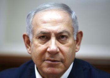 El primer ministro israelí Benjamin Netanyahu en una reunión en Jerusalén el 25 de noviembre del 2018. Foto: Ronen Zvulun/Pool Photo vía AP.