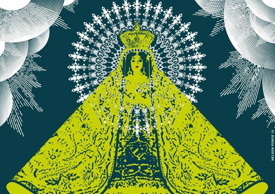Fragmento del Cartel para Mi Virgen de la Caridad de Enrique Pineda Barnet y Carlos Barba Salva. Diseño: Nelson Ponce.