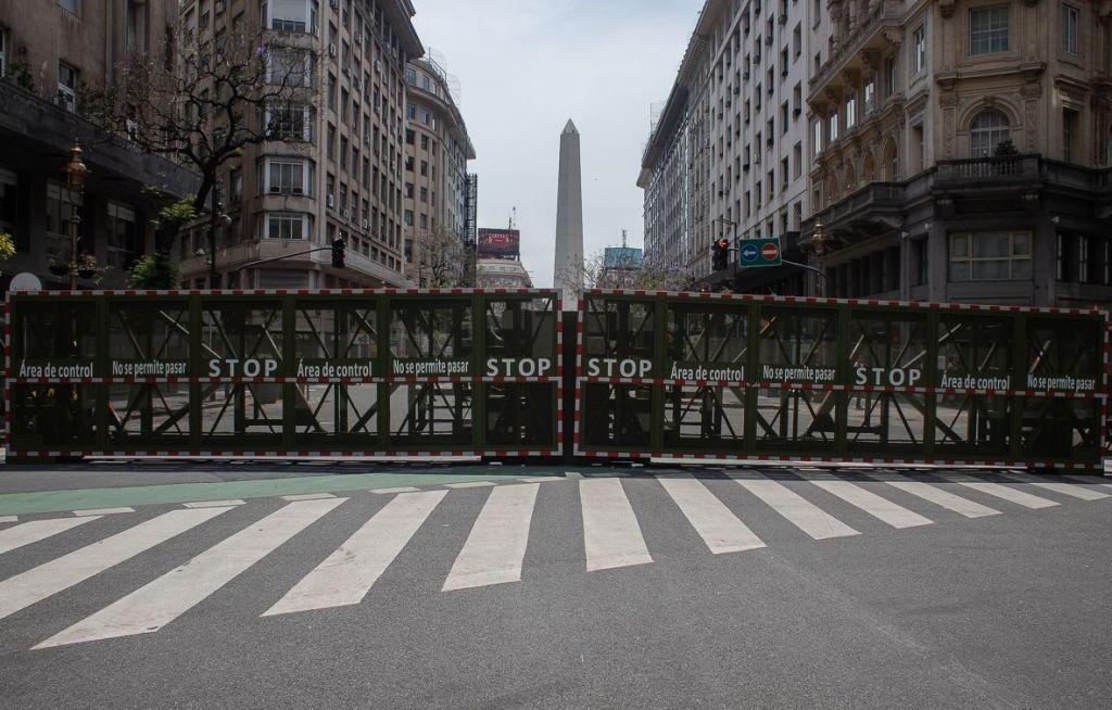 Obelisco porteño vallado. Foto: Nicolás Cabrera.