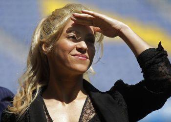 Shakira durante un evento en el estadio Camp Nou en Barcelona, el 28 de marzo de 2017. Foto: Manu Fernandez / AP.