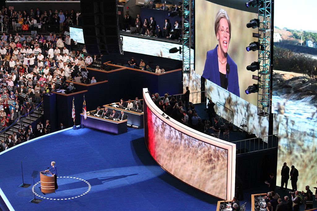 Discurso de Elizabeth Warren en la Convención Nacional Demócrata 2012. Foto: Steve Bolt/Wikimedia.