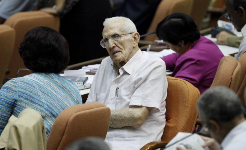 José Ramón Fernández en una foto tomada en 2010 en la Asamblea Nacional del Poder Popular. Foto: Javier Galeano/AP.