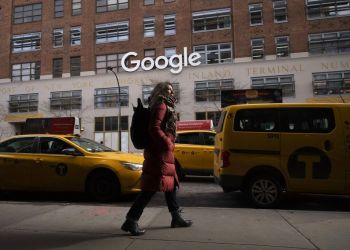 Oficinas de Google en Nueva York. (AP Foto/Mark Lennihan, Archivo)