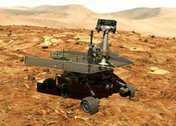 Ilustración facilitada por la NASA de la sonda rodante Opportunity en la superficie de Marte. Imagen: NASA vía AP.