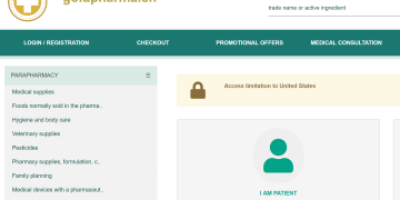 Actualmente el sitio de venta de medicamentos ilegales está bloqueado si se intenta comprar desde Estados Unidos.