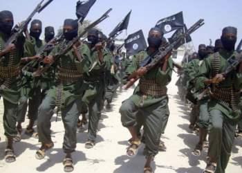 Efectivos de Al-Shabab en las afueras de Mogadishu. Foto: Mohamed Sheikh Nor/ AP.