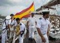"""Buque escuela """"Juan Sebastián de Elcano"""" de la Armada Española, tras su llegada a La Habana. Foto: Otmaro Rodríguez."""