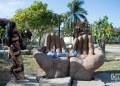 Parque de las esculturas, en Punta Gorda, Cienfuegos. Foto: Otmaro Rodríguez.