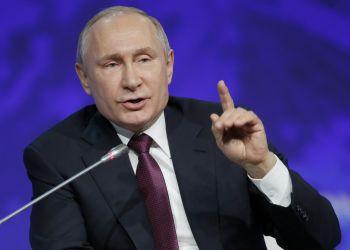 El presidente Putin ayer en San Petersburgo. Foto: Dmitri Lovetsky, AP.
