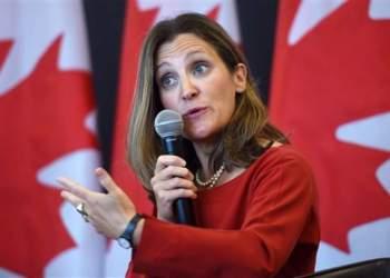 Chrystia Freeland, ministra de Relaciones Exteriores de Canadá. Foto: Mundo24.