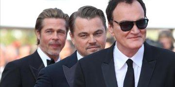 Tarantino junto a DiCaprio y Brad Pitt. Foto: El Periódico