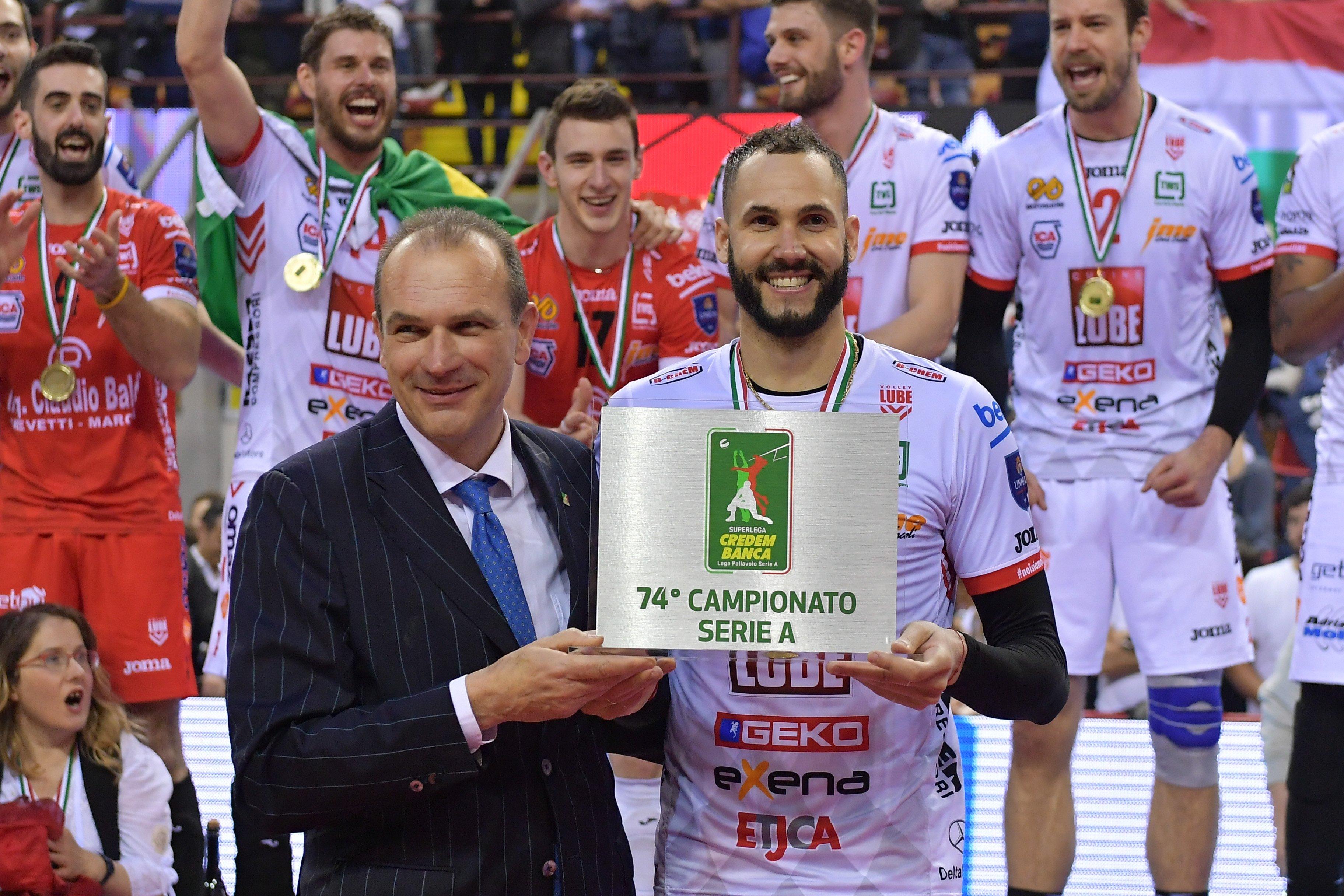 Osmany Juantorena logró su cuarto título de Italia y se proclamó Jugador Más Valioso de la final. Foto: Michele Benda