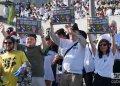 """Invitados extranjeros al desfile por el Día Internacional de los Trabajadores, el 1ro de mayo de 2019 en la Plaza de la Revolución """"José Martí"""" de La Habana. Foto: Otmaro Rodríguez."""