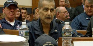 Rescatista Luis Álvarez durante su audiencia ante una comisión del Congreso de Estados Unidos. Foto: AP.