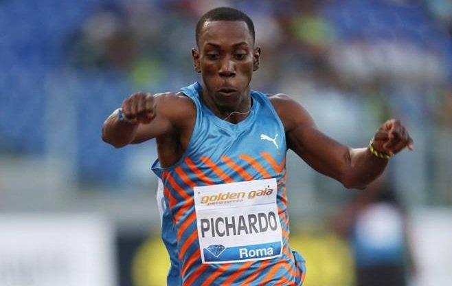 Pichardo compitió por primera vez al aire libre en esta temporada y llegó hasta los 17.47 metros. Foto: Tomada de Twitter.