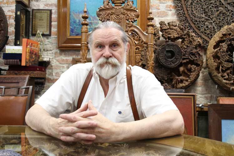 Vladimir Anisimov, miembro de la Academia de Artes de Rusia. Foto: Prensa Latina