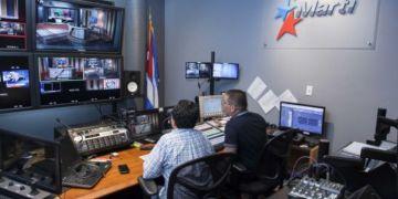 Imagen de los estudios de Tv Martí en Miami. Foto: OCB
