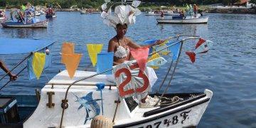 Carnaval acuático de La Habana, el sábado 3 de agosto de 2019. Foto: Otmaro Rodríguez.