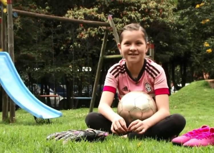 Maria Paz Mora, jugadora de fútbol. Foto: Archivo persona via El Espectador.