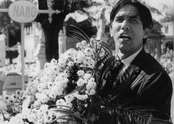 """El actor Salvador Wood en un el fime """"La muerte de un burócrata"""", filme del director cubano Tomás Gutiérrez Alea."""