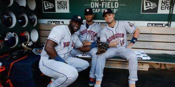 El trío cubano de los Astros de Houston puede ser decisivo en la postemporada. Foto: Tomada de LaVidaBaseball