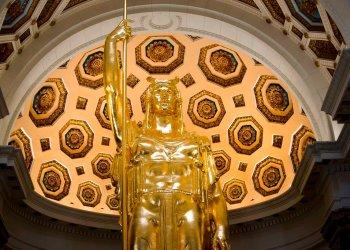 Las obras de restauración del Capitolio de La Habana tuvieron una importante participación de Rusia. Foto: Ramón Espinosa/AP.