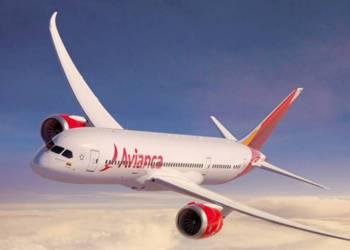 Avión de la aerolínea Avianca. Foto: El País.
