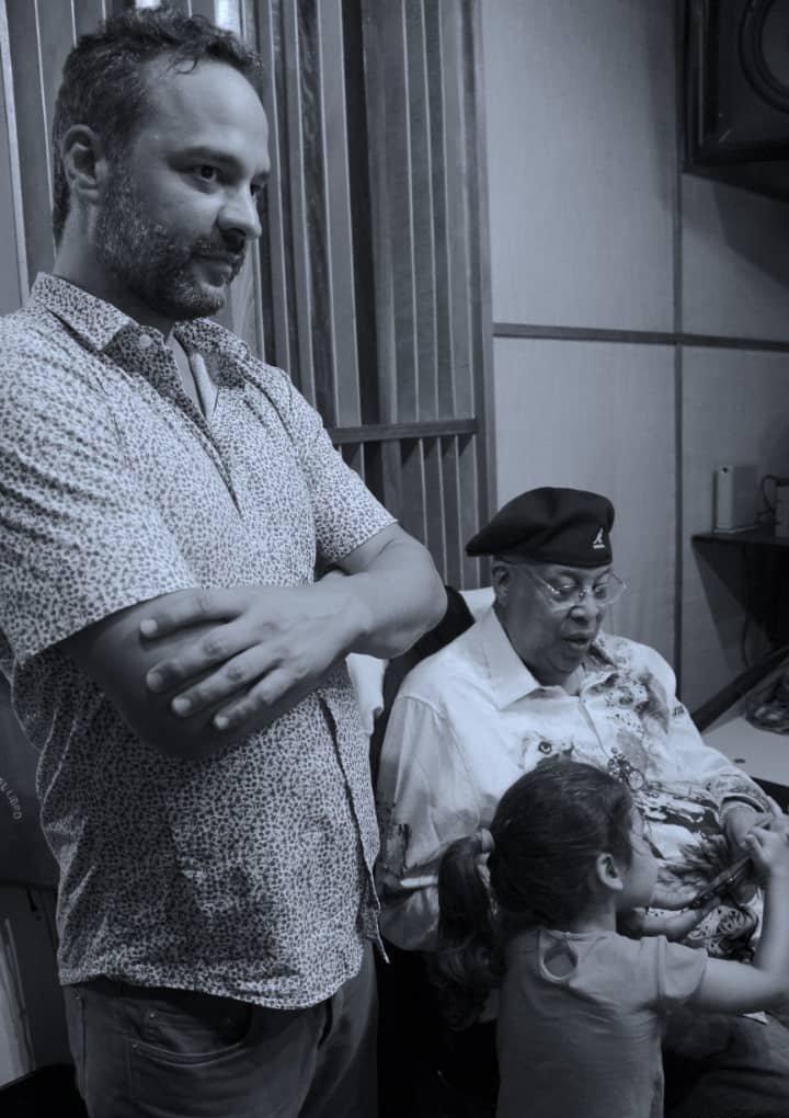 Jonal Cosculluela junto a Chucho Valdés